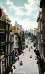PBK-1993-543 Westewagenstraat, uit het zuiden, vanaf de Hoogstraat, in het midden links de Leeuwenstraat en rechts de ...