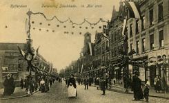 PBK-1993-598 Versiering van de Slaakkade, tijdens de Oranjefeesten op 14 mei 1909, ter gelegenheid van de geboorte van ...