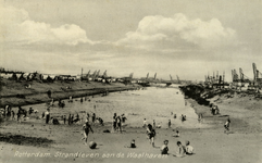 PBK-1993-600 Het zogenaamde crisisstrand aan de Waalhaven.