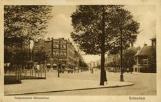 PBK-1993-606 Burgemeester Meineszlaan. Op de voorgrond de hoek van de Vierambachtsstraat en Heemraadssingel.