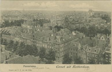 PBK-1993-780 Overzicht op het stadscentrum vanaf de Zuiderkerk aan de Glashaven.