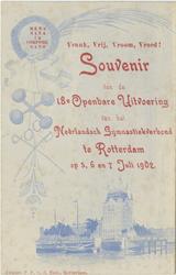 PBK-1993-796 Aankondiging van de 18e openbare uitvoering van het Nederlands Gymnastiek Verbond op het Schuttersveld op ...