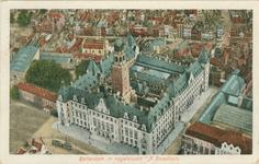 PBK-1993-800 Luchtopname van het stadhuis aan de Coolsingel en omgeving.