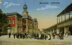 PBK-1993-829 Gezicht op het Beursplein. Rechts station Beurs en links het Beursgebouw.