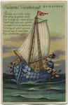 PBK-1993-991 Humoristische prentbriefkaart met een gedicht en eronder een serie van 10 stadsgezichten in een boekje als ...