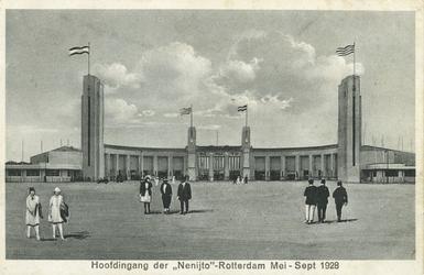 PBK-1995-133 Hoofdingang van de Nederlandsche Nijverheidstentoonstelling (Nenijto), 26 mei - 15 september 1928.
