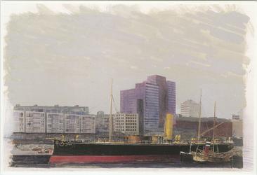PBK-1997-7 Museumschip De Buffel in de Leuvehaven.