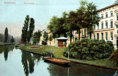 PBK-1999-103 Gezicht op de Westersingel, uit het zuiden. Rechts de Mauritsweg.