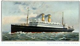 PBK-2000-20 Het schip Rotterdam IV van de Holland-Amerika Lijn.