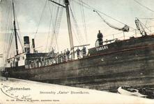PBK-2000-34 Het stoomschip Carlos aan de kade van de Binnenhaven.