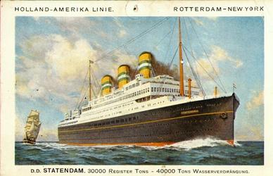 PBK-2001-120 Het passagiersschip de Statendam III van de Holland- Amerika Lijn.