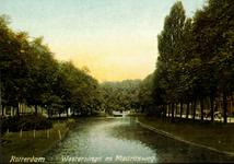 PBK-2001-32 Aankondiging van de manifestatie Waterproject 1854-2001.Op de prentbriefkaart: De Westersingel met rechts ...
