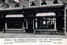 PBK-2001-64 (Reclame) Piano- en orgelmagazijn van Wm. Meininger aan de Erasmussstraat.