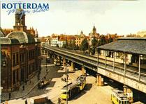 PBK-2002-27-2 Prentbriefkaart behorende tot de serie Rotterdam Mijn stad deel 3, met afbeelding van de Beurs en het ...