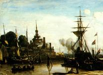 PBK-2002-7 Oudehaven met Ooster Oude Hoofdpoort.