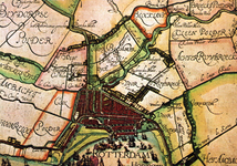 PBK-2003-159 Fragment van de kaart van Schieland van Floris Balthasarz. uit 1611. De omgeving van Rotterdam.