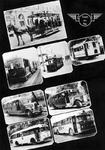 PBK-2003-262 Fotokaart met acht afbeeldingen waaronder vier van trams en vier van autobussen die in de loop der jaren ...