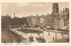 PBK-2003-99 Grotemarkt, gezien uit het zuidoosten, boven de panden steekt de toren van de Sint-Laurenskerk omhoog, in ...