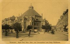PBK-2005-340 Gezicht op de Nederlandse Hervormde Kerk, Kapel Spangen op de hoek van de Van Lennepstraat en de Betje ...