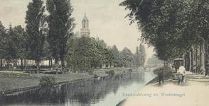 PBK-2005-451 Gezicht op de Eendrachtsweg rechts en links de Westersingel met op de achtergrond de toren van de ...