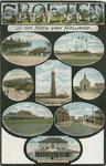 PBK-2007-406 Prentbriefkaart met 8 verschillende afbeeldingen van Hoek van Holland: haven, seinpaal, Blikken Buurt, ...