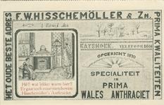 PBK-2007-453 Reclame voor Wales Anthraciet van F.W. Hisschemöller & Zoon aan de Katshoek.