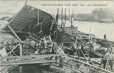 PBK-2007-568 De ravage aan boord van het rijnschip Gutenberg na de ontploffing.