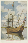 PBK-2008-271 Het zeilschip De Halve Maen, een model op ware grootte van het schip uit 1609, waarmee Hudson in Amerika ...