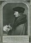 PBK-2008-349 Fotokaart naar een schilderij van de schrijvende Desiderius Erasmus, humanist.