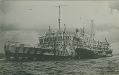 PBK-2008-351 Het schip Strassburg, ex- Baloeran van de Koninklijke Rotterdamse Lloyd, die vanaf 1941 dienst deed als ...