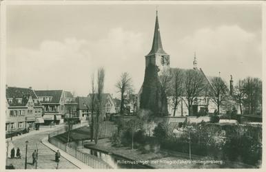 PBK-2008-509 De Nederlandse Hervormde Hillegondakerk met daarvoor het kerkhof, vanuit een woning aan de ...