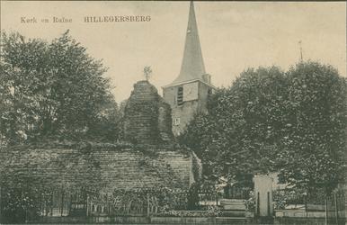 PBK-2008-535 De Nederlandse Hervormde Hillegondakerk en de ruïne van het kasteel of 'reuzenhuis' aan de Kerkstraat.