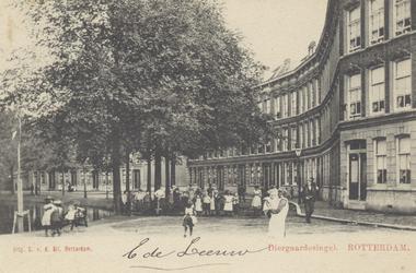 PBK-2019 Diergaardesingel, uit het noorden gezien. Rechts in het midden de Anna Paulownastraat.