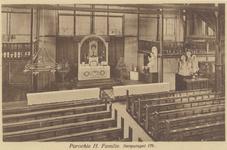 PBK-204 Het interieur van de Roomskatholieke Heilige Familiekerk aan de Voorburgstraat.