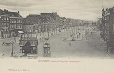 PBK-2245 Overzicht van de Goudsesingel uit het westen, op de achtergrond rechts, molen De Noord aan het Oostplein.