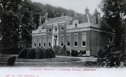PBK-2356 Sanatorium Vredenoord, voorheen buitenplaats Vredenoord, aan de zuidkant van de 's-Gravenweg.