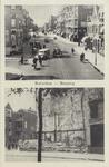 PBK-244 2 afbeeldingen op één prentbriefkaart: - de bovenste afbeelding is identiek aan PBK 215, Bergweg uit het ...