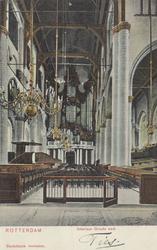 PBK-2444 Het interieur van de Grote Kerk, naar het orgel toe.