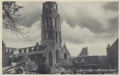 PBK-2480 Puinresten na het bombardement van 14 mei 1940.De Grote Kerk aan het Grotekerkplein.