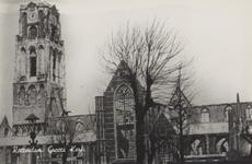 PBK-2481 Puinresten na het bombardement 14 mei1940.De Grote Kerk aan het Grotekerkplein.