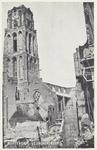 PBK-2486 Puinresten na bombardement 14 mei 1940.De Grote Kerk aan het Grotekerkplein, gezien uit het westen.