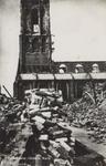 PBK-2488 Puinresten na het bombardement van 14 mei 1940.Gezicht op de Grote Kerk aan het Grotekerkplein, uit het ...