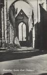 PBK-2491 Puinresten na het bombardement van 14 mei 1940.Het interieur van de Grote Kerk aan het Grotekerkplein.