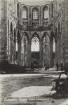 PBK-2492 Puinresten na het bombardement 14 mei 1940.Het interieur van de Grote Kerk aan het Grotekerkplein.