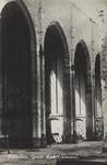 PBK-2493 Puinresten na het bombardement 14 mei 1940.Het noordelijk gedeelte van de Grote Kerk aan het Grotekerkplein, ...
