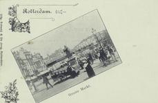 PBK-2560 Grotemarkt, uit het westen gezien, op de voorgrond het standbeeld van Erasmus.