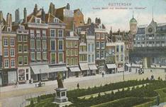 PBK-2578 Grotemarkt nummer 1 tot en met nummer 21 vanuit het westen. Op de achtergrond het Moriaansplein met warenhuis ...