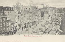 PBK-2630 Huizen aan het Haagseveer, uit het zuidoosten vanaf de Raambrug gezien. Op de achtergrond links boven de ...