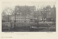 PBK-2650 Gezicht op het Haringvliet, uit het zuiden. Links op de hoek van de Spaansekade is hotel Weimar. Het hoekpand ...