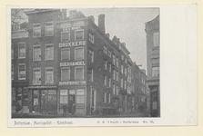 PBK-2651 Gezicht op het pand van G.B. 't Hooft Drukkerij Boekhandel Schrijfbehoeften aan de Haringvliet 99, hoek ...